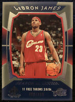 2004-05 Upper Deck 2nd year SP Game Used Season In Review #134 LeBron James