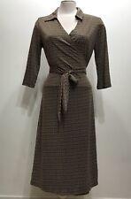 Alfani Brown Wrap Around 3/4 Sleeve Women Dress Size Medium