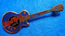 Hollywood Classic Horizontal Azul Gibson Les Paul Guitarra Hard Rock Cafe Pins