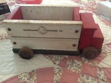 Vintage Omni toys WOOD Truck antique woodland express co. Wooden