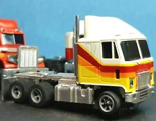 WHITE/RED/YELLOW/ORANGE GMC TRUCK TRACTOR AFX HO SLOT CAR RARE SPEED SHIFTER