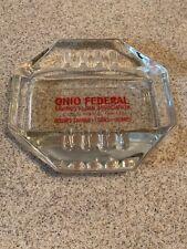 Vintage Safex Ohio Federal Savings & Loan Columbus Ohio Advertising Ashtray