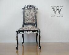 1/4 chair for foll, baroque black, BJD doll furniture, vintage furniture