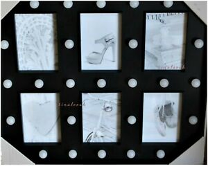 Hollywood Style 29 Led  Bulbs Battery Operated Photo Frame Wall Mounted Black