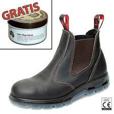 Redback Work Boots Sicherheitsschuh Arbeitsschuh Stahlkappe USBOK Braun +Zugabe