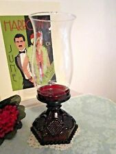 Avon 1876 Cape Cod Collection Ruby Red Glass Globe Hurricane Candle Holder
