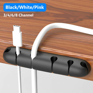 Silicone Office Desktop USB Cord Cable Organizer Winder Management Wire Holder