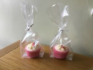 24 x Cup cake Cellophane Sweet/party Bags