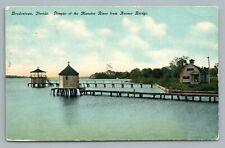 Bradentown Florida—Avenue Bridge & Manatee River—Antique Leighton Postcard 1911