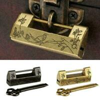 Padlock Chinese Vintage Antique Lock Old Brass Style Padlock Chinese Combination