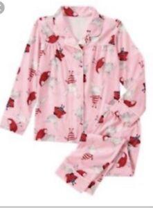 GYMBOREE Adult Mom Olivia flannel PAJAMAS pjs Nwt size L large
