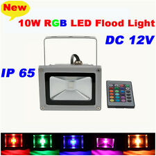 DC12V 10W RGB LED Flood Spot Light Lamp Outdoor Waterproof Pool Yard + Remote