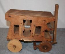 Vintage Handmade Rustic Distressed Wood Wagon Amish Cart Buggy Country Decor