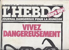L HEBDO HARA KIRI N 3 5 AOUT 1981