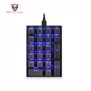 Motospeed K23-Tastatur USB-Kabel Numerische mechanische Tastatur 21 Tasten M2H7