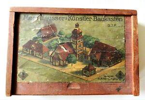 RAR! Antiker O. & M. Hausser - Hausser's Künstler-Baukasten Meco - um 1920