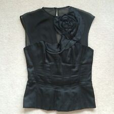 Stunning 'KAREN MILLEN' black s/less evening top UK size 8 RP £145 Worn Once