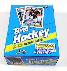 1992-93 Topps Hockey Wax Box (36 Packs)