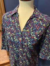 10263cd6 Old Navy Women's Small S Short Sleeve Button Front Floral Cute Shirt Dress