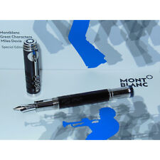 Demo/2ND* Montblanc Great Characters Miles Davis Special Edition Fountain Pen M