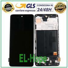 DISPLAY LCD OLED PARI ORIGINALE SAMSUNG GALAXY A51 SM A515F TOUCH SCREEN VETRO