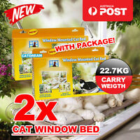 2X Comfortable Cat Window Mounted Bed Pet Sunny Wall Home Hammock Cover Washable