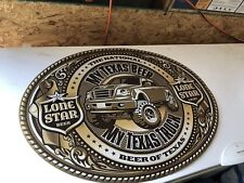 Lone Star Beer Truck 4x4 Sign Texas Lone Star Light
