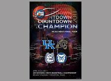 NCAA Men's Basketball FINAL FOUR 2011 POSTER Connecticut, Butler, Kentucky, VCU