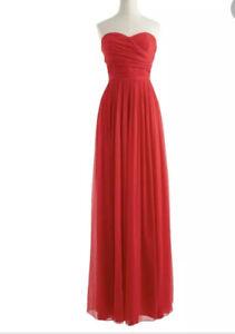J CREW 10 ARABELLA LONG DRESS IN SILK CHIFFON SZ.10 NWT Prom Wedding Bridesmaid
