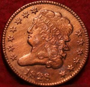 1828 Philadelphia Mint Copper Classic Head Half Cent
