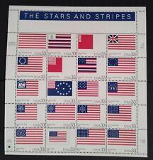 Stars and Stripes Scott#3403  Pane of 20 stamps MNH - Catalog $15