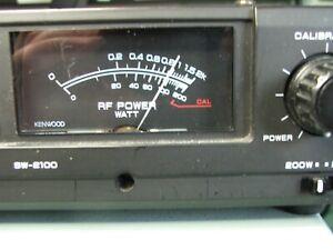 Kenwood SW-2100 Ham Radio SWR Power Meter Wattmeter, includes copy of the manual