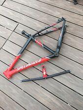"Specialized Stumpjumper Mountain Bike Frame Red Black 18"" MTB Retro + Bars Stem"