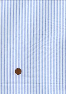 100% Cotton Fabric Shirting Pale Blue White Stripe Patchwork Craft Bunting