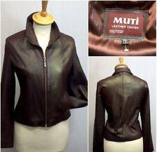 Hüftlange Damenjacken & -mäntel aus Leder für M