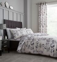 Catherine Lansfield Shrewsbury Floral Easy Care Duvet Cover Bedding Set Natural