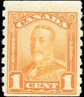 Mint H Canada F+ Scott #160 COIL1c 1929 KGV Scroll Issue Stamp