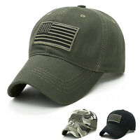 Tactical Operator Camo Hat Special Forces American Flag Army Military Patch Cap