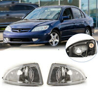 For Honda Civic 204-05 Factory Replacement Fit Fog Light Driving Lamp Clear Lens
