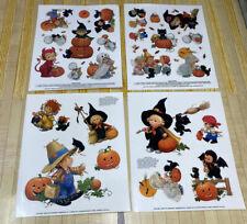"""Teenie Halloweenies"" by Ruth or Bill Morehead Halloween Window Clings 1997 NOS"