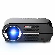 Projector 3500 Lumens VIVIBRIGHT GP100 Video Projector,LCD 1080P Full-HD