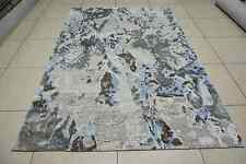 Indian 6x8 170x240 Hand Knotted Indo Tibet Nepalese Wool Bamboo Silk Carpet Rug