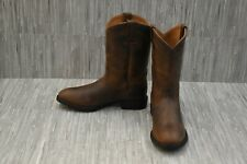 Ariat Heritage Roper Distressed Leather Western Boots, Women's Size 6B, Brown