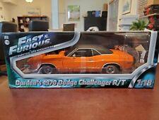 Rare Fast & Furious 1970 Dodge Challenger R/T 1:18 Greenlight DieCast NOS