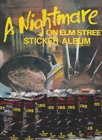 A NIGHTMARE ON ELM STREET 9 UNOPENED PACKS OF STICKERS + STICKER BOOK VINTAGE 84