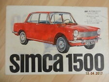 Catalogue SIMCA 1300 1500