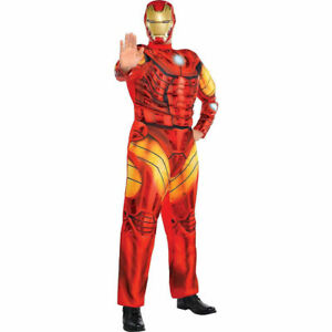 Avengers Iron Man Muscle Adult Costume Marvel LIGHTS UP STANDARD SIZE 955 NEW