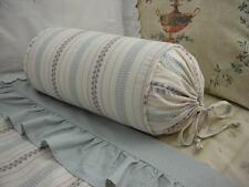 NEW Custom Ralph Lauren Villandry Stripe Neckroll Pillow Neck Roll Duvet Stripe