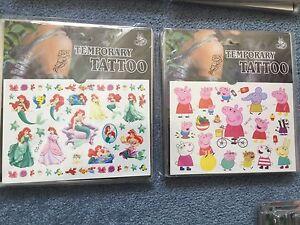 Peppa Pig Tattoos Mermaid Tattoos Party supplies Loot bag fillers Kids Tattoos