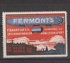 German Poster Stamp Zeppelin